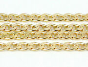 16-24 3.7mm 18k Yellow Flat Anchor Link Chain New Solid Italian Necklace2515