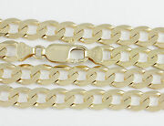18-24 7.3mm 10k Yellow Gold Open Link Chain New Solid Italian Necklace 2399
