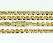 16-24 3.7mm 14k Yellow Flat Beveled Link Chainnew Solid Italian Necklace2412