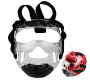 New Martial Arts Clear Face Shield Mask For Sparring Head Gear