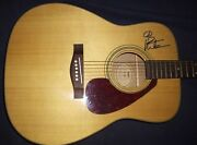 Dave Matthews Signed Guitar Yamaha Acoustic New Peace Sign Inscribed L@@k Proof