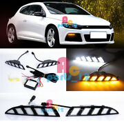 Led Daytime Running Light Drl+turning Signal For Volkswagen Scirocco R 2010-2014