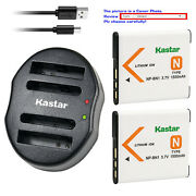 Kastar Battery Dual Usb Charger For Sony Np-bn1 Bc-csn And Sony Cyber-shot Dsc-wx9