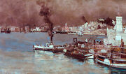 Tom Roberts, An Autumn Morning Milson's Point 1888 Steam Boat Hd Print Or Canvas