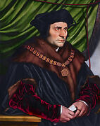 Hans Holbein The Younger - Sir Thomas More Holbein Art Poster Canvas Print