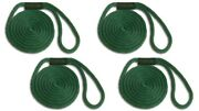 Solid Braid Nylon Dock Line - 5/8 X 30and039 - 4-pack Floats / Usa / Forest Green