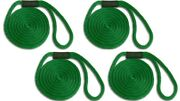 Solid Braid Nylon Dock Line -5/8 X 45and039 4-pack Floats / Usa Made / Green