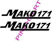 Mako 171 Pair Decals Vinyl Stickers Mako Boat Boats Decal 2 Decals Usa Made