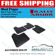 Rally Armor Fits Universal Fitment No Hardware Ur Black Mud Flap W/ Red Logo