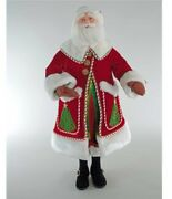 """Katherine's Collection 36"""" Night Before Christmas Santa Doll New 28-828191"""