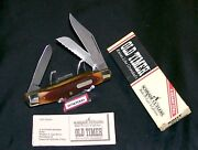 Schrade 89ot Knife Blazer Sfo Usa Made Old Timer 4 Closed W/packaging,papers