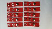10 Boat Cover Extension Snaps 1 And 2 Multi Red