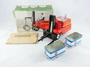 Battery Operated Stagor Forklift Truck Tin Toy Ms Veb Msb German 3011 Vintage