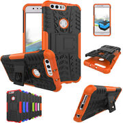 Shockproof Hybrid Armor Hard Case Cover+ Tempered Glass Film For Huawei Phone