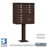 12 Door Cbu Cluster Box Unit Pedestal Mailbox - Usps - Free Shipping And Bolt Kit