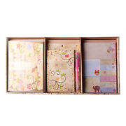 Stationery Set 10 X Greeting Cards 9 X Sticky Note Pads Magnetic Jotterand Gel Pen
