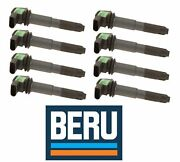 For Porsche 955 Cayenne 8x Ignition Coil With Spark Plug Connector Oem Beru New