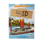 Build A Boat 3d Model Mississippi Steamship Kit And The History Of Ships Book Set