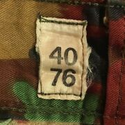 Vintage Swiss Military Alpenflage Camouflage Surplus 32x30 Trousers Pants