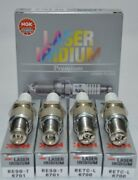 Ngk Laser Iridium Spark Plugs 2 Re7cl Trailing 2 Re9bt Leading For Mazda Rx8