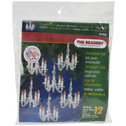 Beadery Holiday Beaded Ornament Kit-christmas Chandeliers Makes 12
