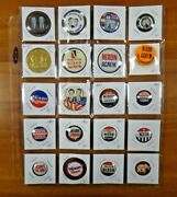 20 President Political Campaign Pinback Buttons Nixon Agnew Lodge Election Year