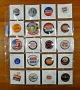 20 President Political Campaign Pinback Buttons Nixon Agnew Lodge Inauguration