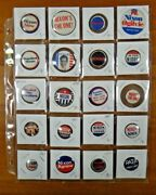 20 President Political Campaign Pinback Buttons Nixon Agnew Lodge Pat First Lady