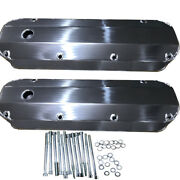 For Ford 429 460 Fabricated Aluminum Tall Valve Covers 1/4 Billet Rail Bbf Race