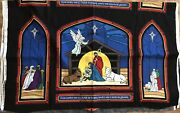 Nativity Scene Fabric Panel For Unto Us A Child Is Born 44 Inches Wide Christmas