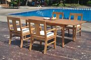 Dsos A-grade Teak 5pc Dining Set 94 Rectangle Table 4 Arm Chair Outdoor Patio