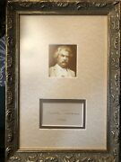 Mark Twain Signed Autograph - Authenticated