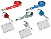 Staff Lanyard Neck Strap With Retractable Reel And Security Pass Badge Holder