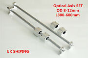Linear Shaft Smooth Rod Optical Axis Support And Bearing Block Od 8-12mm 300-600mm