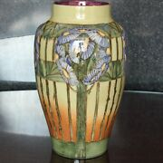 Doulton Lambeth Aesthetic Movement Faience Vase 10 Margaret M Armstrong