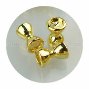 Gold Color 300 Sunken Brass Dumbbell Beads Assortment, Recessed Eyes, Fly Tying