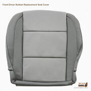 2005 To 2015 Front Driver Bottom Leather Seat Cover For Nissan Titan 2-tone Gray