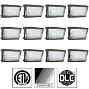 Case Of 12 Outdoor Wallpack Light Fixtures Led 6120 Lumens Super White 97086-su