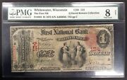 1875 1.00 Nat'l Banknote, First Nat'l Bank Of Whitewater, Wi Pmg Graded 8 Vg