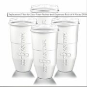 Replacement Filter For Zero Water Pitchers And Dispensers Pack Of 4 Pieces