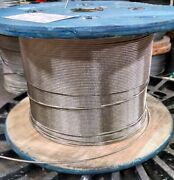 3/8 Stainless Steel Cable Railing Wire Rope 1x19 Type 316 800 Feet