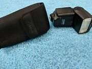 Canon Speedlite 430ex Ii Flash With Case Shoe Mount For Canon Slr Camer Used