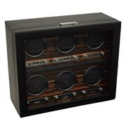 Wolf Roadster 2.7 6 Piece Watch Winder With Cover For Six Automatic Watch 459256