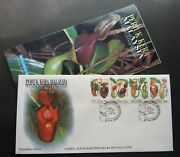 Malaysia Pitcher Plants 1996 Tropical Flora Flowers Forest Fdc Rare