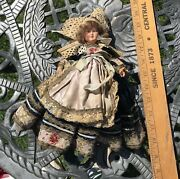 Antique Celluloid French Doll Stunning Clothes , Girl