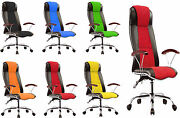 Pc Desk Racing Gaming Chair Adjustable Leather Swivel Chair Wheel Arm Rest