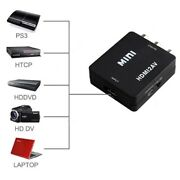 Composite Hdmi To Av Cvbs 3rca Video Converter Adapter 1080p Usb Cable Uk