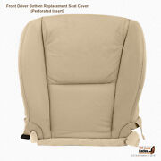 Driver Bottom Seat Cover Tan Perforated Leather Fits 2007 Lexus Gs350 Base Sedan