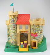 Vintage 1960 Fisher Price Little People Play Family Castle Childrens Toy Lot