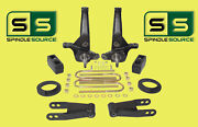 01-10 Ford Ranger 2wd 5/5 Lift Kit Spindles/coil Spacers/rear Blocks/shackles